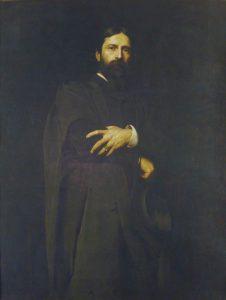 Painting of 'Sir Hubert von Herkomer' by Herman Herkomer.