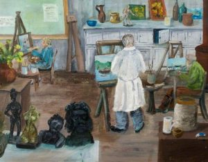 Picture 'The Frobisher Studio, Bushey' by Margaret Spark.
