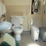 Ground floor toilet at Bushey Museum.