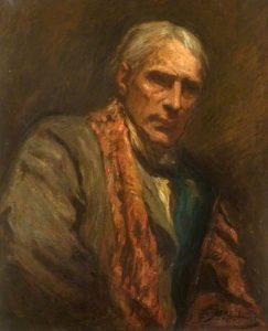 A self-portrait of Hubert von Herkomer dated around 1900.