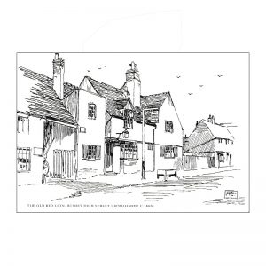 A set of notelets featuring 1920's Bushey scenes shetched by Henry Francis Clarke.