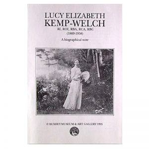 A biography leaflet about Lucy Kemp-Welch.