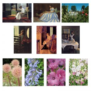 A selection of 0 cards of Reveley Lodge and its flowers