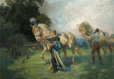 A painting in the Kemp-Welch gallery.