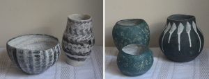 Hand built ceramics by Averil Ainley.