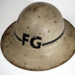 A helmet for the World War 2 sessions.