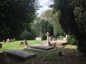 St James churchyard in Bushey
