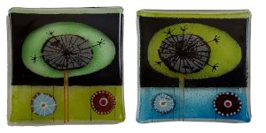 Fused glass by Harriet Pelham.