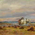 Working in the Fields by an East Coast Estuary by Lucy Kemp-Welch