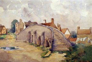 Pack Horse Bridge, Moulton, Suffolk, by Geoffrey Sneyd Garnier