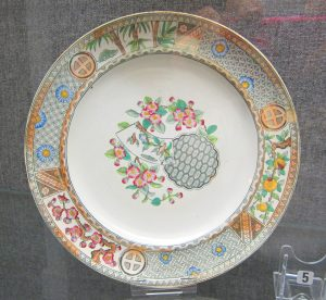 A Staffordshire plate