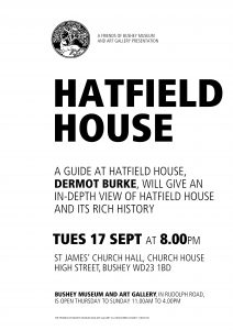 Poster of Hatfield House talk