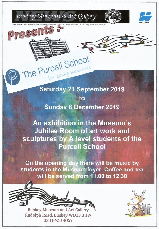 Poster for Purcell School students' exhibition.