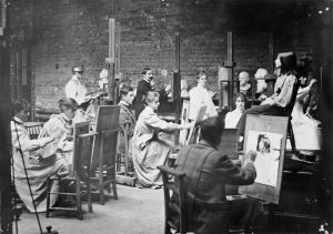 Students at Herkomer's Art School, Bushey