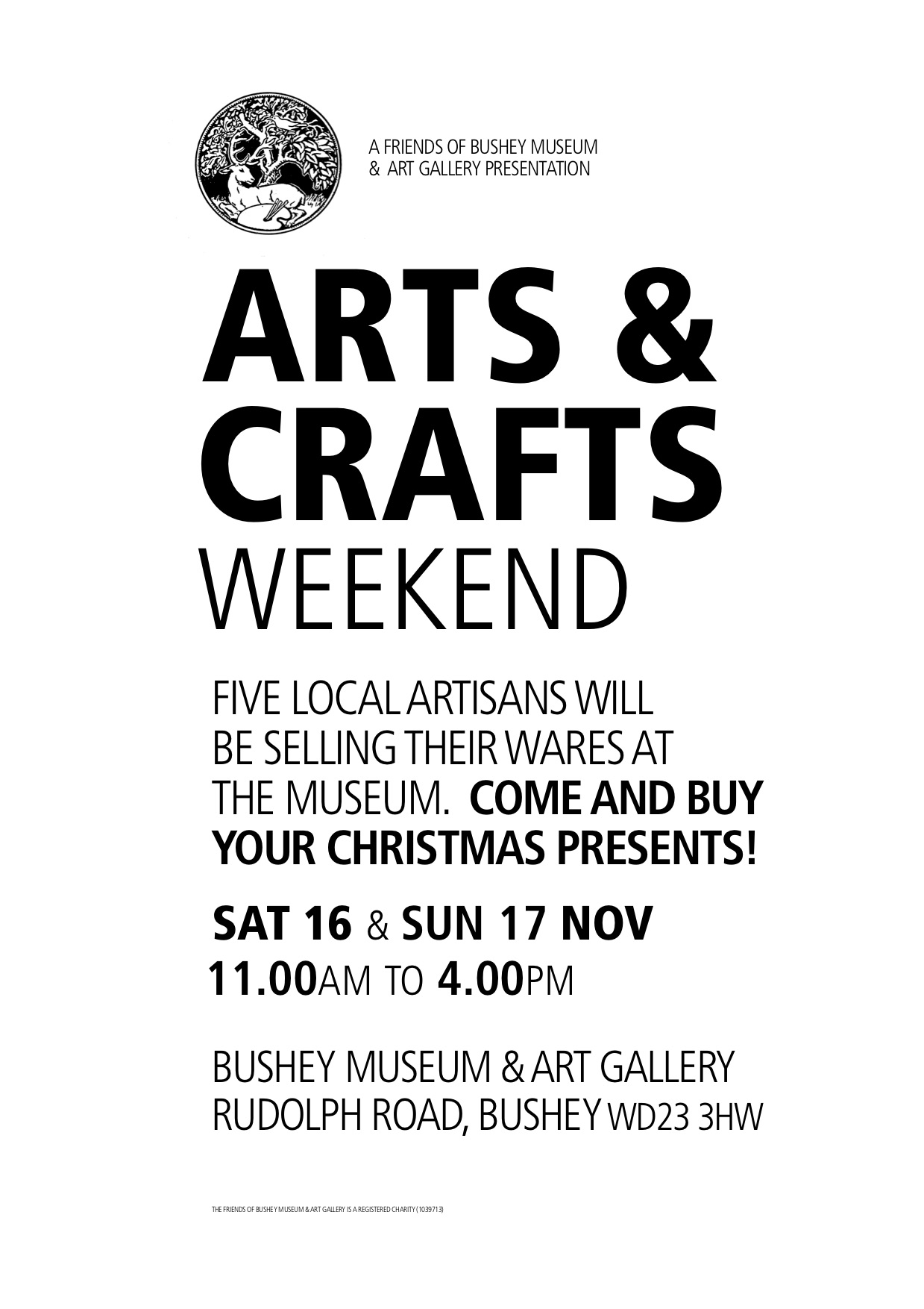 Poster for Arts and Crafts weekend