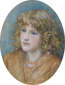 Unknown Teenage Girl (Miniature) by Kate Ethel Cowderoy