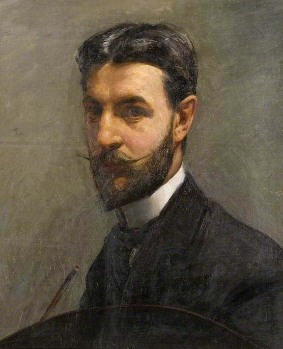 Self Portrait with Palette by Albert Ranney Chewett