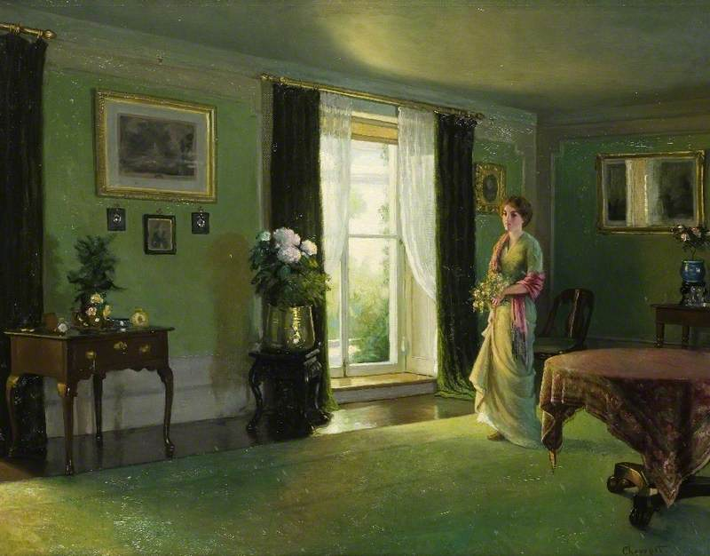 'The Drawing Room at Reveley Lodge' by Albert Ranney Chewett