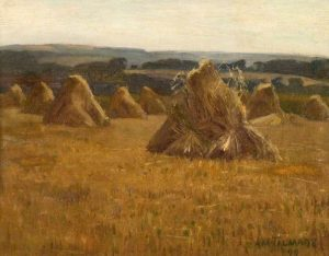 Corn Stooks by Algernon Talmage