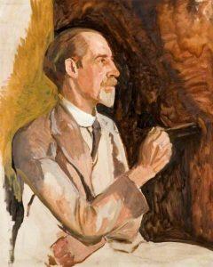 Algernon Talmage self portrait painting