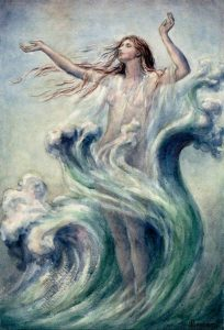 Sea Nymph Arising from the Waves by Sybil Barham