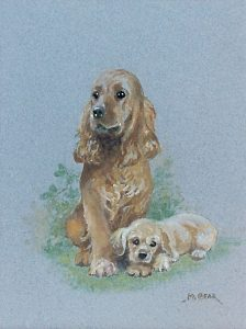 'Happy Motherhood Spaniel and Pup' by Mabel Gear