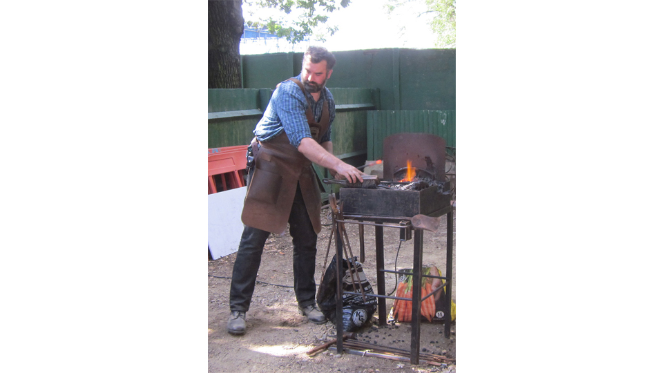 Blacksmith on Canada Day at Reveley Lodge by Fred Parker