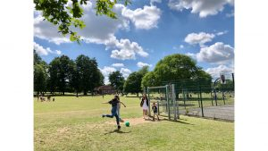 Kick Around in King George Recreation Ground by Sarah McAllister
