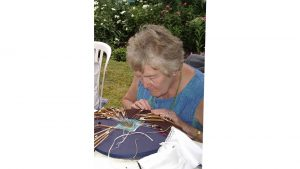Lace making at Reveley garden party by Fred Parker