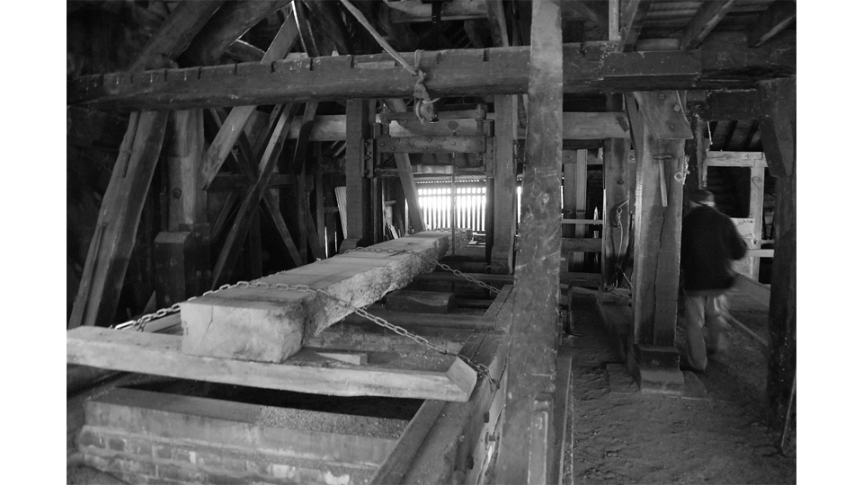 Water-driven sawmill at Gunton Park, Norfolk by Andrew Gunton
