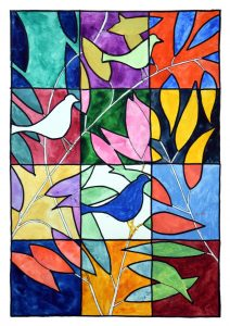 Stained Glass Window design by Douglas Jackson