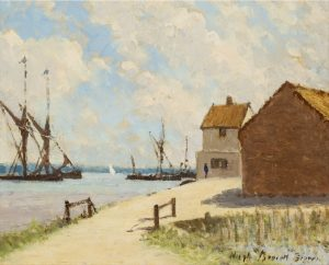 Sunny Morning Pin Mill by Hugh Boycott Brown