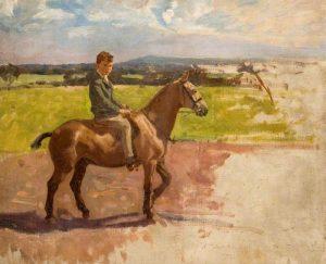 Boy on Pony (unfinished) by Algernon Talmage