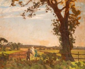 Ploughing by Algernon Talmage