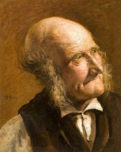 Portrait of an Old Man with Side Whiskers by Hubert von Herkomer