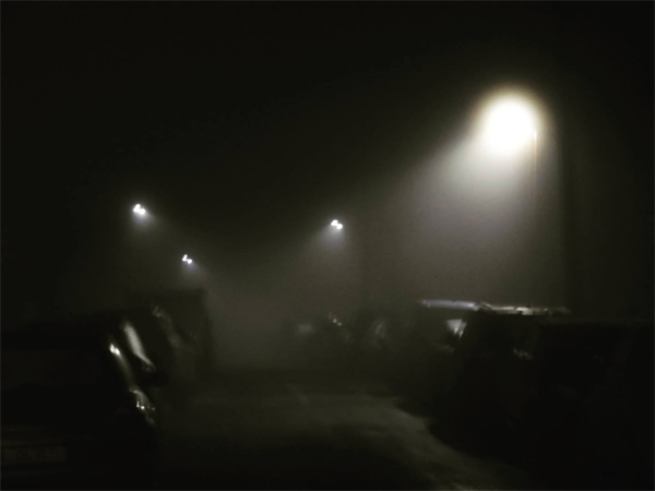 A misty evening in Capel Road by Nick Edgeworth