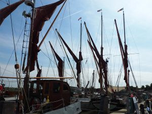Thames Barges' salute by Shirley Keates