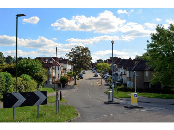 Up the hill - Bournehall Avenue by Monika Handke