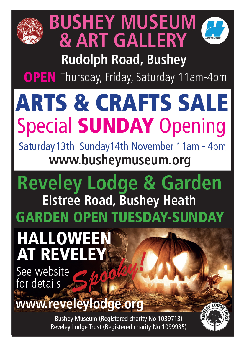 Poster about Bushey Museum events