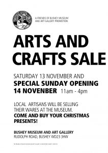 Arts and Crafts sale poster